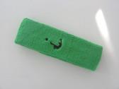 Bright green custom head band sports sweat terry