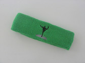Bright green custom sports head band sweat terry