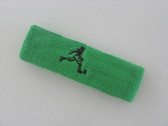Bright green custom terry headband sports sweat
