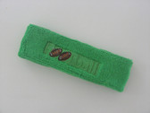 Bright green custom terry headbands sports sweat