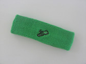 Bright green custom sport sweat headband terry