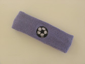 Lavender custom headband sports sweat terry