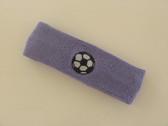 Lavender custom headband sports sweat terry