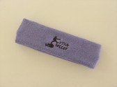 Lavender custom sport head band sweat terry