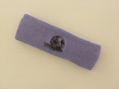 Lavender custom sport headbands sweat terry