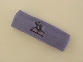 Lavender custom sport sweat headbands terry