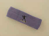 Lavender custom sports headband sweat terry