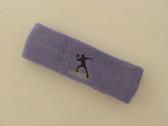 Lavender custom sports headband sweat terry