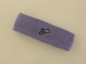 Lavender custom sport sweat headband terry