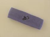 Lavender custom sport sweat headband terry