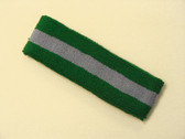 Green steel-blue green striped terry sport headband for sweat