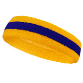 Yellow blue yellow headbands sports pro