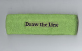 Custom Lime Green Sport Headband with Black Text Sample