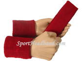 Dark red sports sweat headband 4inch wristbands set