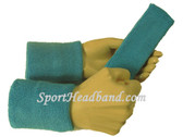 Sky blue sports sweat headband 4inch wristbands set