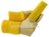 Yellow sports sweat headband 4inch wristbands set