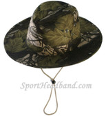 Mossgreen Hunting Camouflage Bucket Hat Safari Style