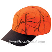 Deer Hunting Orange Camouflage Cap with Black Peak