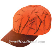 Deer Hunting Orange Camouflage Cap with Brown Peak