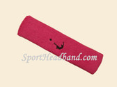 Hot pink Soccer Logo Customized Sport Terry Headband