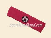 Hot Pink Soccer Logo Customized Sport Headband