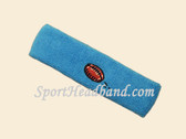 Sky Blue Football Logo Custom Sports Headband