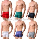 Multi-Stripes Casual Sport Seamless Boxer Briefs Underwear