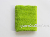 Bright Lime Green Sport Wristband 4INCH for Sweat