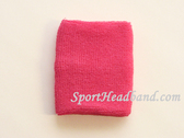 Bright Pink Sports Terry Wristband for Sweat