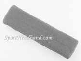 Light Gray(grey) Large sports terry headband pro