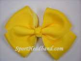 Yellow 2Tone Hair Bow with Clip