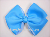 Sky Blue  2Tone Hair Bow with Clip