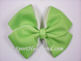 Bright Lime Green 2Tone Hair Bow with Clip