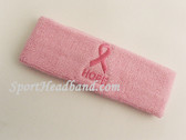 Ribbon and HOPE Symbol Light Pink Sports Headband