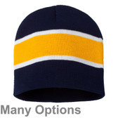 Winter/Spring Unisex Beanie with Stripes - Many Colors