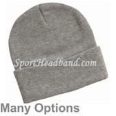 100% Acrylic  12 inch Knit Beanie Hat