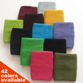 COUVER Wrist Sweatband - 4 inch Solid Cotton Terry Cloth Sport Wristband