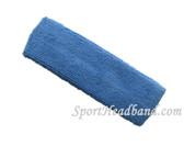 Cerulean Blue terry sport headband for sweat