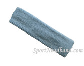 Carolina Blue terry sport headband for sweat