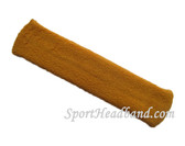 Tan long sport headband terry cloth for sweat