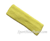 Lemonade yellow terry sports headband for athletic sweat