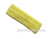 Lemonade yellow terry sports headband for athletic sweat