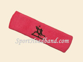 Bright Pink custom sport sweat head band terry