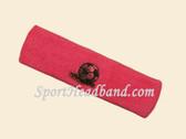 Bright Pink custom sport headbands sweat terry