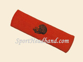Dark Orange custom sport sweat head band terry