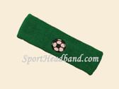 Green custom headband sports sweat terry