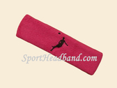 Hot Pink custom headbands sports sweat terry