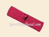 Hot Pink custom sport headband sweat terry