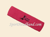 Hot Pink custom sport head band sweat terry