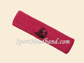 Hot Pink custom sport headbands sweat terry